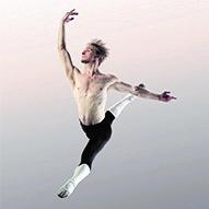 Former Twin Cities Ballet dancer Luke Perkins shows a large jump.