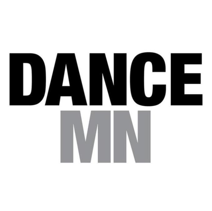 "DanceMN Logo: ""Dance"" typed in all caps in black over ""MN"" in all caps in gray"